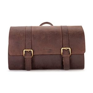LEABAGS genuine leather toiletry bag
